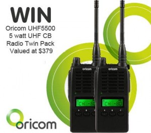 4wd TV – Win Oricom UHF5500 CB Radio Twin Pack Valued At $379