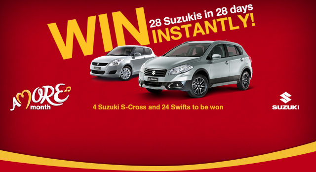 McDonalds – Win 4 x Suzuki S-Cross AND 24 x Suzuki Swifts