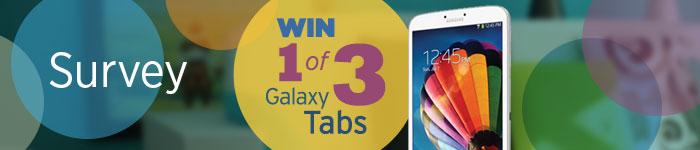 "ABC / Ramp Up – Win 1 of 3 Samsung Galaxy Tab 3 8"" 16GB Wifi"