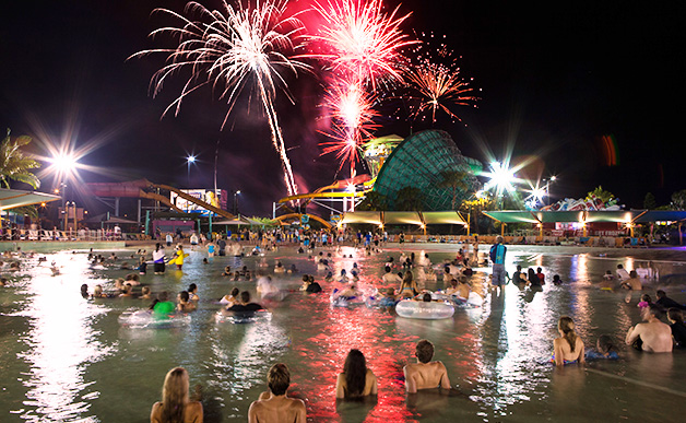 B105 – win 1 of 50 double tickets to Dreamworld Night White Water World for any Friday night in January