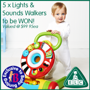 Baby Bunting – Win 1/5 ELC Walkers valued at $99