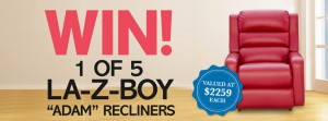 Better Homes & Gardens – WIN 1 of 5 LA-Z-Boy 'Adam' Recliner – Facebook Competition
