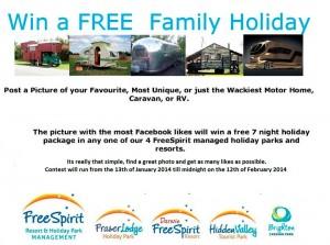 Brighton Caravan Park – Win 7 night family holiday at 1 of 4 parks – Free Spirit Resorts