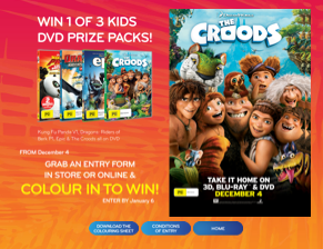 Civic Video – Colour in Competition – Win 1 of 3 Kids DVD Prize Packs