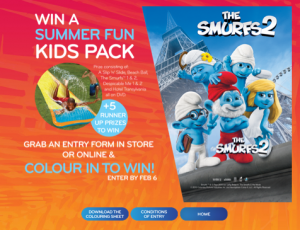 Civic Video – Colour in Competition – Win a Summer Fun Kids Pack incl Smurfs, Despicable Me DVDs