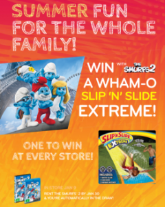 Civic Video – Win The Smurfs 2 A Wham-O Slip n Slide Extreme At Every Store
