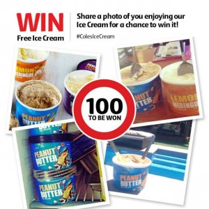 Coles – Win Free Ice Cream – Share Photo To Win