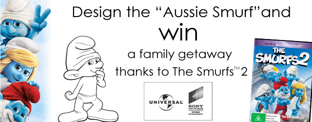 Essential Kids – design an Aussie Smurf and win family holiday to Gold Coast or 1 of 10 r/u The Smurfs 2 dvds