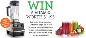 Healthy Food Guide – Win A Vitamix in the Healthy Food Guide Reader Survey