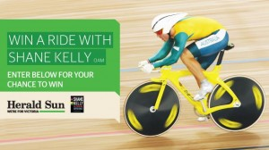 Herald Sun – Win chance to ride with Olympic cyclist Shane Kelly in final 20km of Amy's Ride