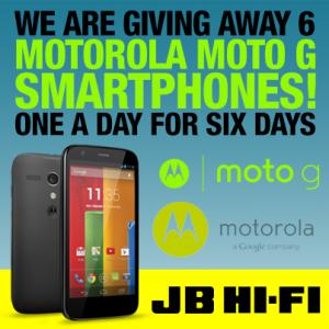 JB Hi-Fi – Win 1 of 6 Motorola Moto G Smartphones Giveaway Each Day