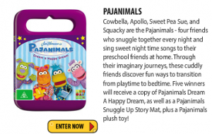 Just Kidding Junior – Win 1/5 Pajanimals Prize Packs (Ages 3-6)