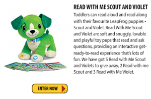 Just Kidding Junior – Win 1/5 Read With Me Scout or Violet (Ages 3-6)