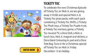 Just Kidding Junior – Win 1/5 Tickety Toc prize packs (Ages3-6)
