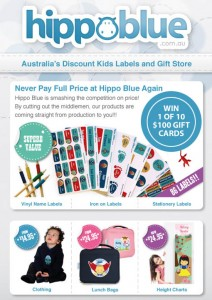 KidStyleFile – Win 1 of 10 $100 Gift Vouchers from Hippo Blue