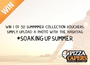 Pizza Capers – WIN 1 of 50 SUMMMER COLLECTION GOURMET PIZZA VOUCHERS