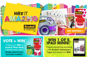 Scotch Australia – Win 1/5 iPad Minis Plus Scotch Prize Pack Instantly EVery Day – Vote To Win