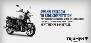 Swann Insurance – Win A Triumph Bonneville Bike Valued At $13,500