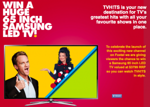 TV Hits Foxtel – Win a Samsung 65 inch LED TV