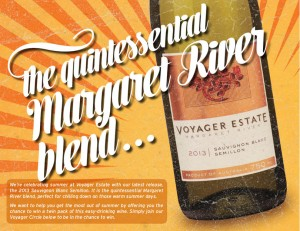 Voyager Estate – Win Two bottles (twin pack) of Voyager Estate 2013 Sauvignon Blanc Semillon