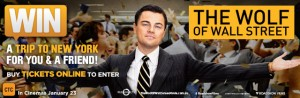 Village Cinemas – Win A Trip To New York – Buy Tickets To The a Wolf on Wall Street Competition