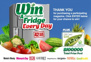 Woolworths – Win A Fisher Paykel Top Mount Stainless Steel Fridge Each Day