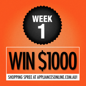 Appliances Online – Win a $1,000 gift card for Appliances Online each week