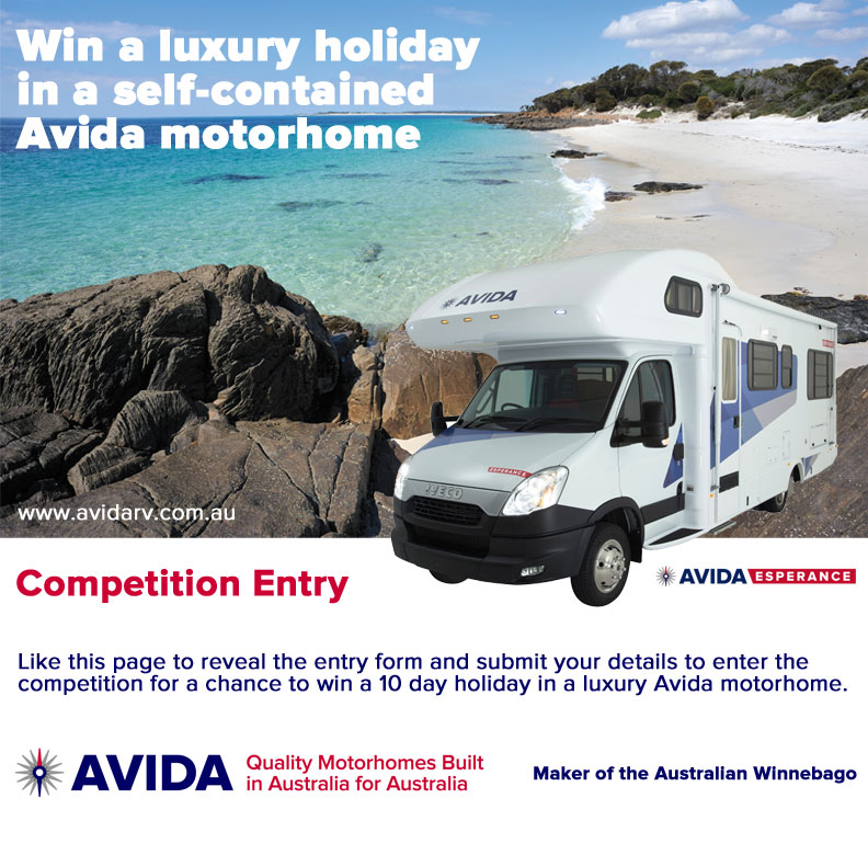 Avida – Win a 10 day luxury motorhome holidays (flights to & from K Smith airport)