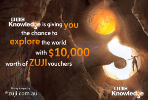 BBC Knowledge Australia – Win $10,000 Zuji voucher
