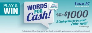 Benzac words for cash, win $1000 cash prizes – Benzac ANZ Competition