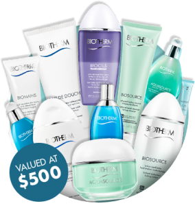 Biotherm – Win 1 of 7 Biotherm deluxe Aquasource packs valued at $500 each – Must Sign up to Database