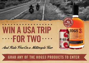 BWS or Dan Murphys – Hogs3Bourbon – Win A Trip To Route 66, Grand Canyon and Las Vegas, USA