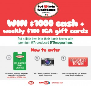 D'Orsogna – Win $1000 Cash Weekly or IGA Gift Cards | Australian Competitions