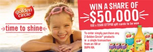 Golden Circle IGA Win a share of $50,000