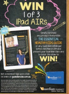 Guardian [Pharmacy] – Win 1 of 3 Apple 16GB iPad Airs