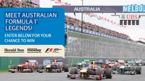 Herald Sun – Win meet and greet with Daniel Ricciardo, Mark Webber, Alan Jones Australian Grand Prix Competition