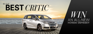 Honda – Win A All-New Honda Odyssey (quick review of current car to win)