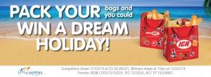 IGA Little Heroes Promotion – Win $15,000 Travel voucher plus $3000 spending money