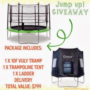 Live It Do It – WIN A 10FT TRAMPOLINE PACKAGE VALUED AT $799