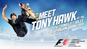 Network Ten – Win Trip To Melbourne Meet Tony Hawk at the 2014 Formula 1® Rolex Australian Grand Prix
