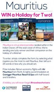 New Horizons Holidays – Win A Mauritius Holiday, Western Australia