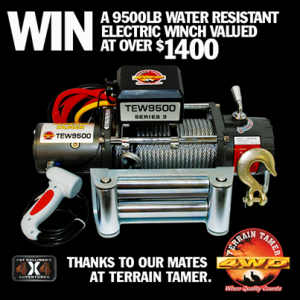 Pat Callinan's 4×4 Adventures – WIN a 9500LB WATER RESISTANT ELECTRIC WINCH valued at over $1,400