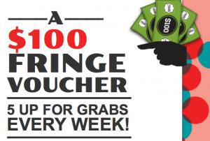 #spiritoffringe – Win 5 x $100 FRINGE VOUCHER