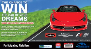 Swisse – The Chance to win a car of your dreams (winner will play for $300,000 with a guaranteed prize of $10,000)