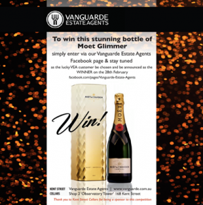 Vanguarde Estate Agents – Win a bottle of Moet Glimmer