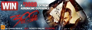 Village Cinemas – 300 Rise of an Empire – Win a $3,000 Andrenaline gift voucher