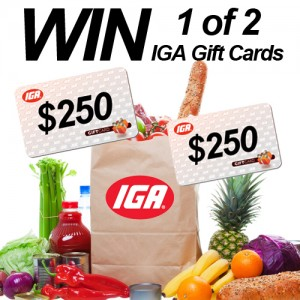Win 1 of 2 $250 IGA gift cards – Mums Lounge