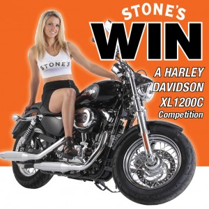 Stones Ginger Wine – Win a Harley Davidson XL1200C in Vivid Black valued at $18,750