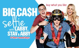 B105 – Win Big Cash Selfie With Labby, Stav & Abbys My Kitchen Rules