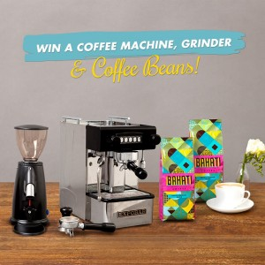 Bahati Win a Coffee Machine,Grinder and a years supply of coffee
